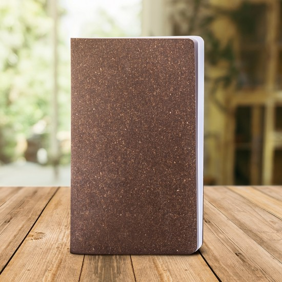 Notes Eco Pastel, piele naturala regenerata, 12,5x20 cm, velin, maro
