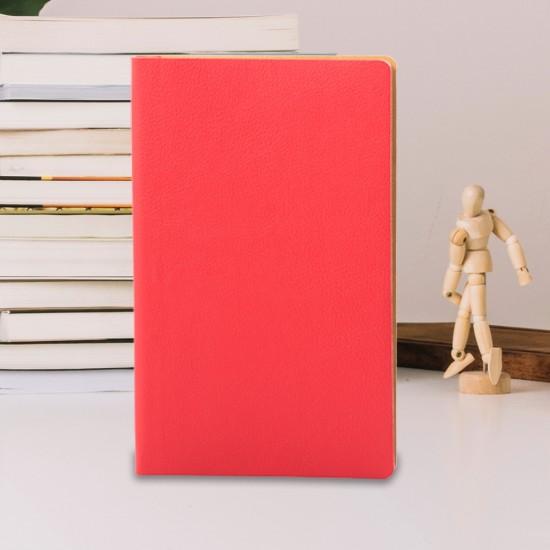 Notes Flexi, piele, 12,5x20 cm, liniat ivory, rosu