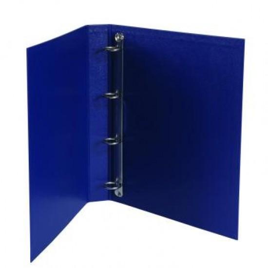 Caiet mecanic  A4 plastefiat si eticheta pe cotor , 4 inele, albastru