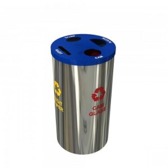 BAERUM A Cos de reciclare compact din otel inoxidabil pentru acasa sau la birou