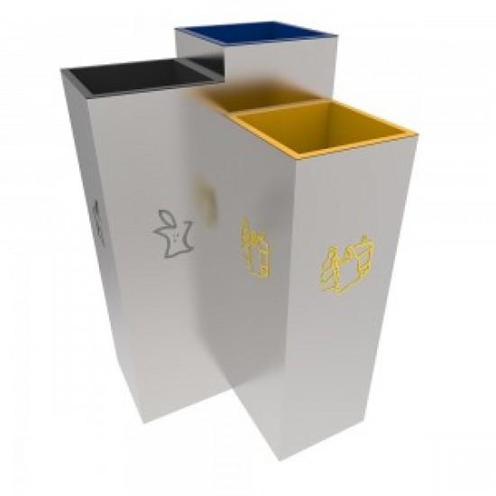 BERGEN A Set pentru colectarea selectiva cu design elegant pentru spatii publice