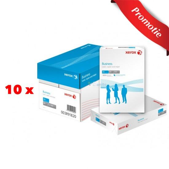 Pachet Hârtie Xerox Business A4, 9 + 1 GRATIS