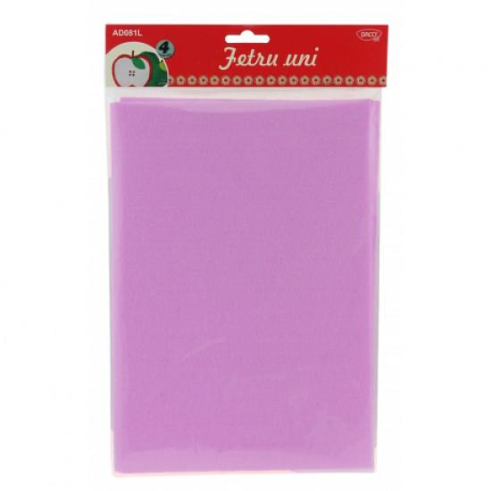 Accesorii craft - ad081l fetru uni set 4 lila