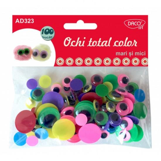 Accesorii craft - ad323 ochi total color mari si mici daco