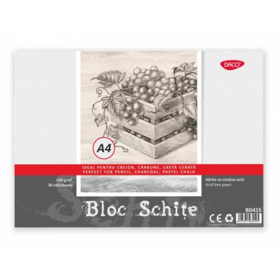 Bloc a4 schite 150g 30 file daco bd415