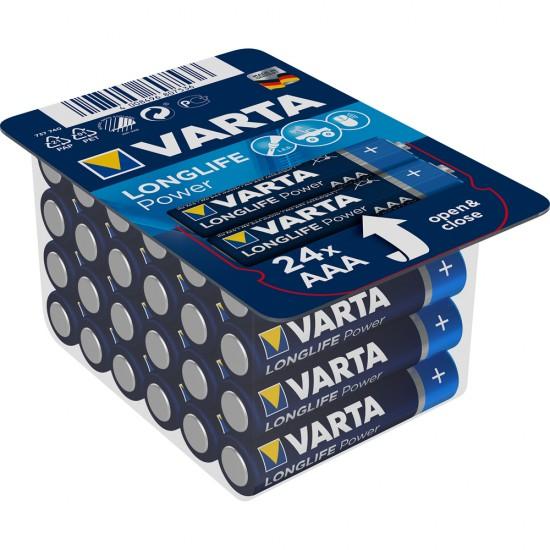 Baterii Varta Longlife Power, AAA, LR3, 24 bucati/set