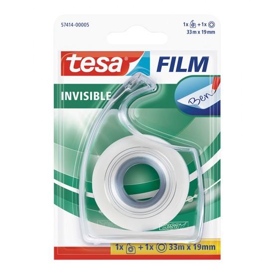 Banda Tesafilm invisibila, dimensiuni 19 mm x 33 m, cu dispenser