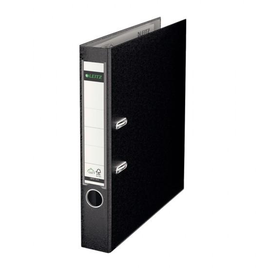 Biblioraft Leitz 180º, PP, A4, 52mm, negru