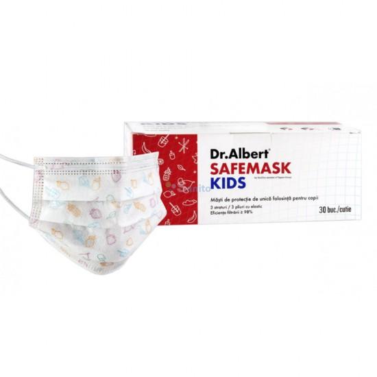 Masca medicala de unica folosinta copii 3 straturi, 30 buc/cutie